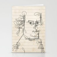 mozart Stationery Cards featuring Custom made Mozart by bananabread