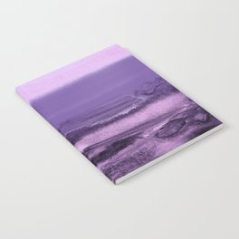 watercolor landscape - purple Notebook
