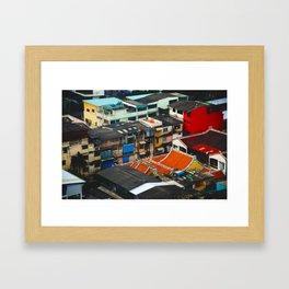 Thailand Rooftops Framed Art Print