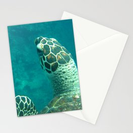 Sea Turtle Swimming Stationery Cards