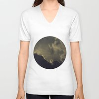 kansas V-neck T-shirts featuring Over Kansas by josemanuelerre