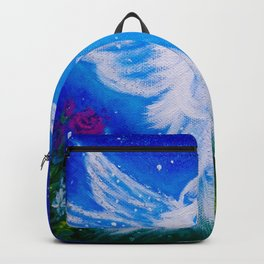 Angel at night  Backpack
