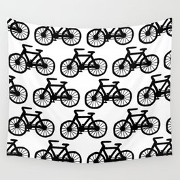 Bicycle Doodle Wall Tapestry