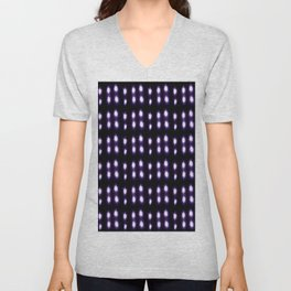 Purple and blue polka dot Unisex V-Neck