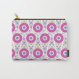 Pink Abstract Pattern Carry-All Pouch