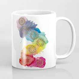 7 Chakras Watercolour Painting Coffee Mug