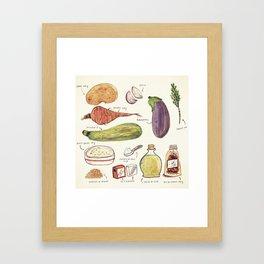 Vegetables Framed Art Print