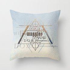 Muggle Throw Pillow