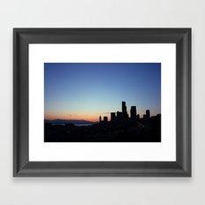 8:47 P.M. Seattle Framed Art Print