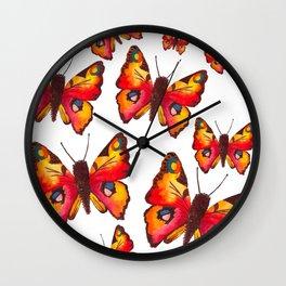 Peacock Butterflies Wall Clock