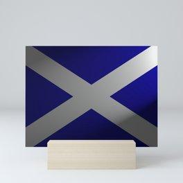 Scottish Flag With Spotlight Mini Art Print