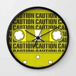 Caution Tape Wall Clock