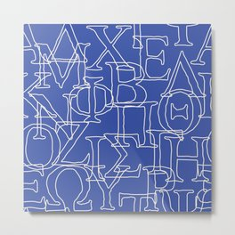 Greek Alphabet Metal Print