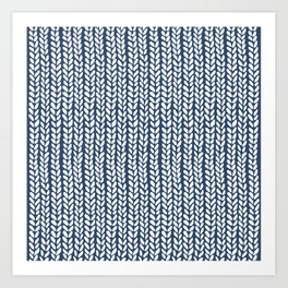 Knit Wave Navy Art Print