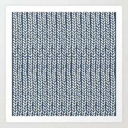 Knit Wave Navy Art Print