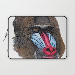 Mandrill Face Mammal Two-tone Muscular Nose White sphinx Laptop Sleeve