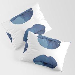 blue lips Pillow Sham