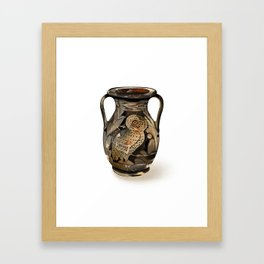 Greek Pelike with an Owl Framed Art Print