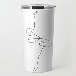 Abstract Ballerina Travel Mug