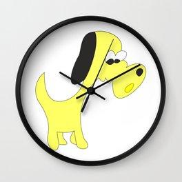 YELLOW MOTLEY MUTT Wall Clock