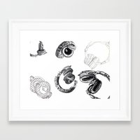 headphones Framed Art Prints featuring Headphones by Ashley Jones