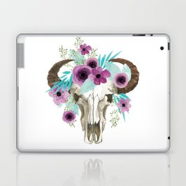 This boho bull skull, features a crown of bright flowers! Laptop & iPad Skin