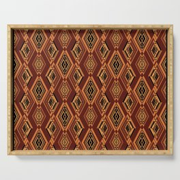 Abstract geometric pattern. Serving Tray