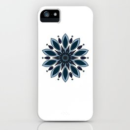 Blue knapweed flower iPhone Case