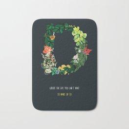 Dream Floral Motivational Quote Bath Mat