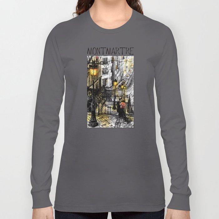 Montmartre VIII in colour Long Sleeve T-shirt