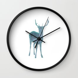Holiday deer 1- Holidaze Wall Clock