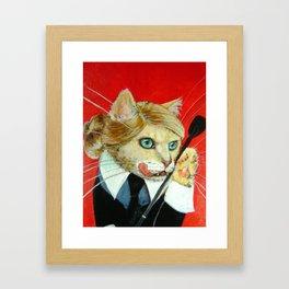 Dita, A Highly Professional (Dominatrix) Business Cat Framed Art Print