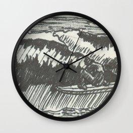 Barrelled in Black & White Wall Clock