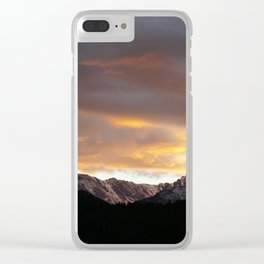 Sunset on Trail Ridge 3 Clear iPhone Case