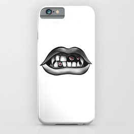 Vampire Mouth With Fangs And Evil Creatures iPhone Case