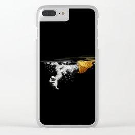 Black Water II Clear iPhone Case