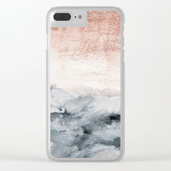 pastel landscape Clear iPhone Case