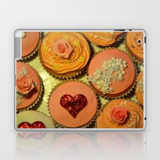 Heart and Floral Cupcakes Laptop & iPad Skin