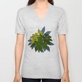 Leaves and blurs Unisex V-Neck