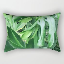 Jungle Palm Leaves Rectangular Pillow