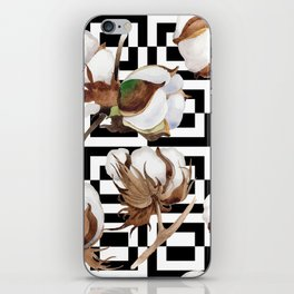 Cotton Flower Pattern 09 iPhone Skin