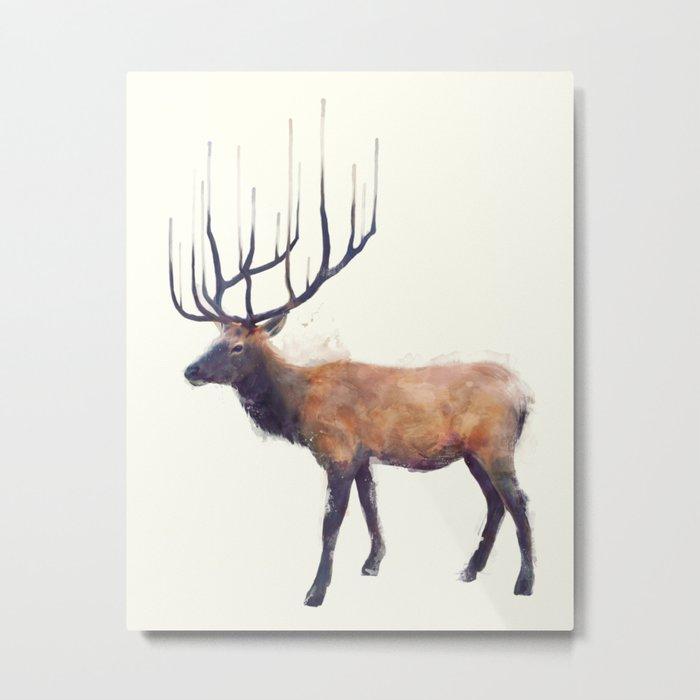 Elk // Reflect (Left) Metal Print