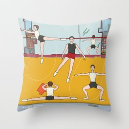 Schol Ballet Training Throw Pillow
