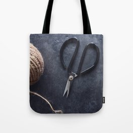 Scissors and twine Tote Bag