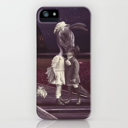 Kiss of love in space iPhone Case
