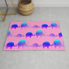 We Are Family - Elephants Rug