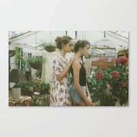 jasmine Canvas Prints featuring Jasmine by Mariam Sitchinava