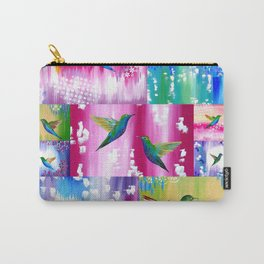 Hummingbird Cushion Carry-All Pouch