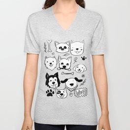 Doggy Doodles Unisex V-Neck