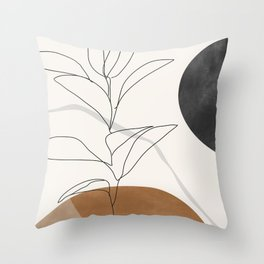 Abstract Art /Minimal Plant Throw Pillow